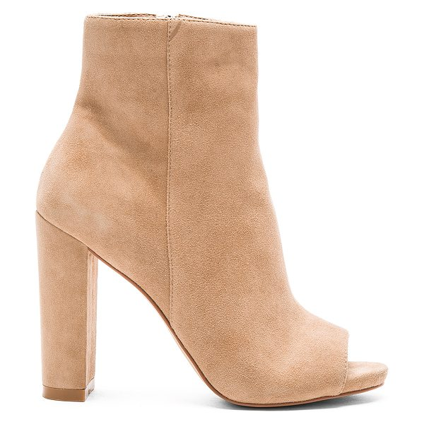 STEVE MADDEN Mannzo bootie - Kid suede upper with man made sole. Side zip closure....