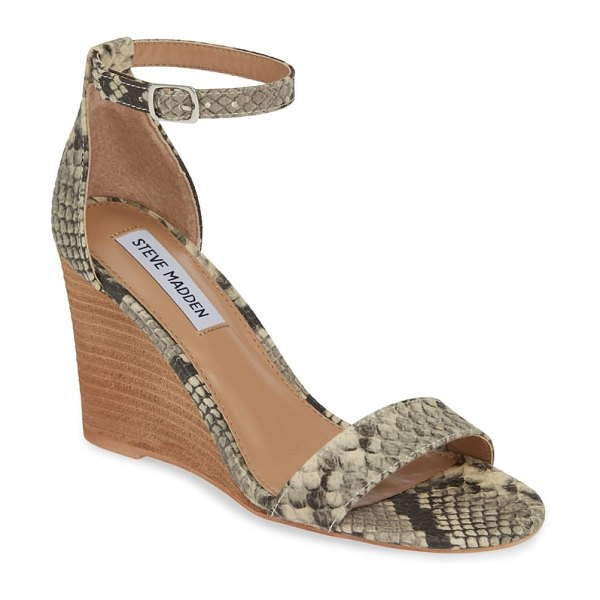 Steve Madden mary ankle strap wedge in metallic - Slim straps underscore the minimalist and timeless style...