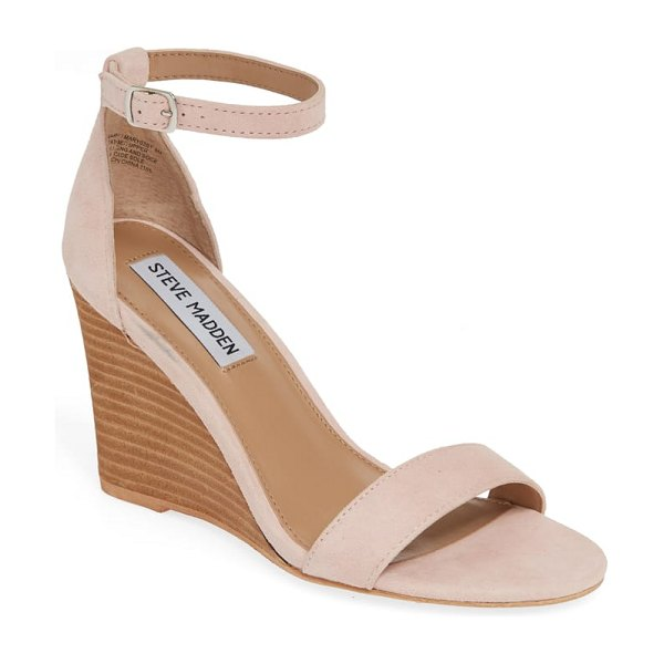 Steve Madden mary ankle strap wedge in pink - Slim straps underscore the minimalist and timeless style...