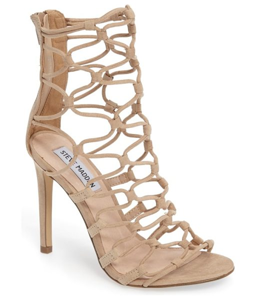 Steve Madden mayfair latticework tall sandal in blush