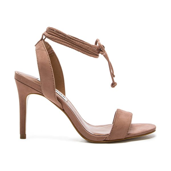 Steve Madden Natlia heel in mauve - Suede upper with man made sole. Wrap ankle with tie...