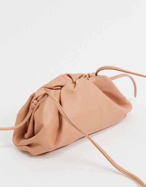 Steve Madden necture slouchy clutch bag in tan in tan