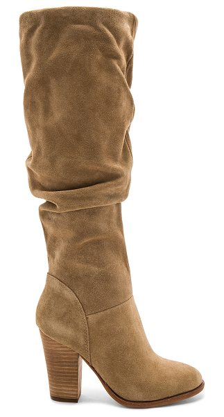 STEVE MADDEN Nevada Boot - Suede upper with man made sole. Side zip closure. Slouch...