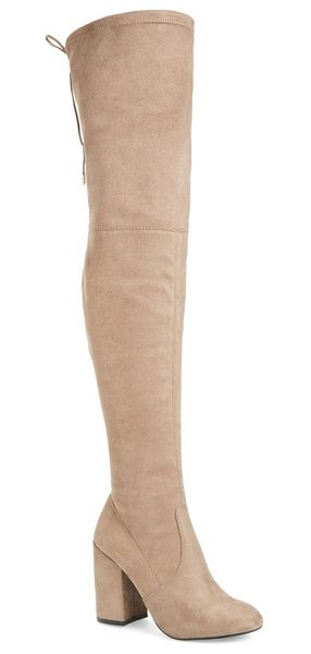 STEVE MADDEN norri over the knee boot - A chunky covered block heel and clean, uncomplicated...