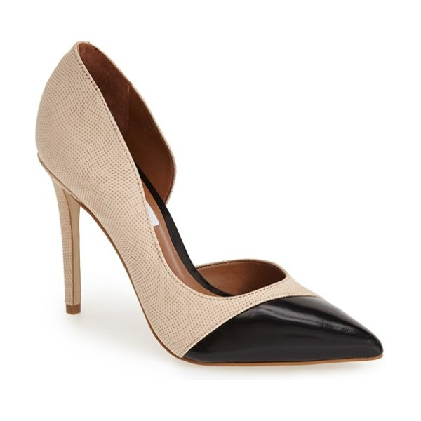 Steve Madden paigely half dorsay pump in blush multi suede - A sophisticated pointy toe pump in a half d'Orsay...