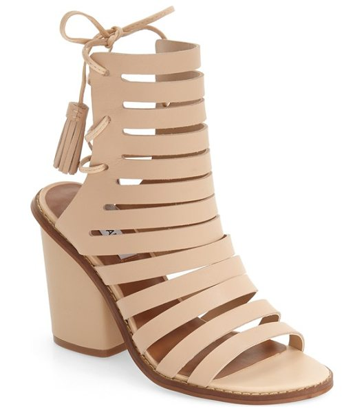 Steve Madden 'pipa' cut out sandal in natural leather - A bold block heel lifts a chic cutout sandal with slim...