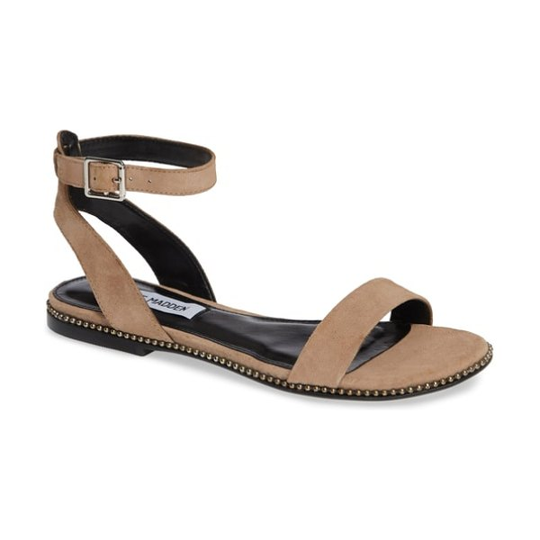 Steve Madden salute sandal in pink - A shining buckle puts the polish on a minimalist...