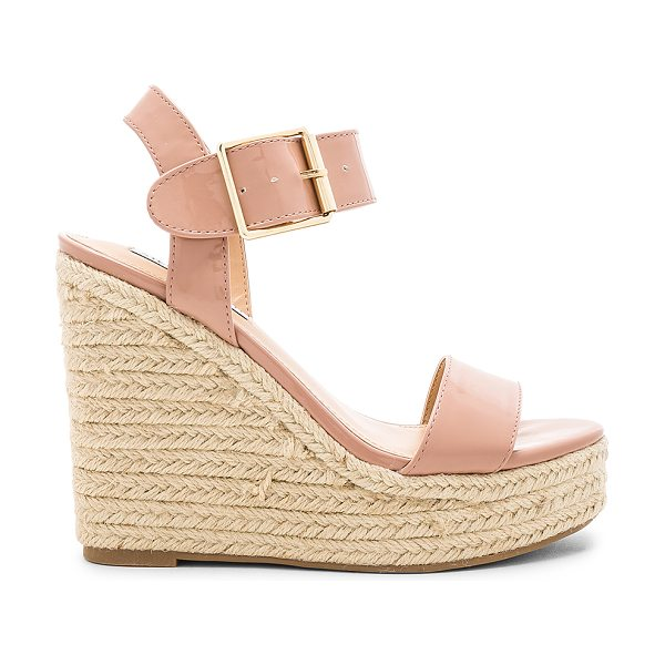 """Steve Madden Santorini Sandal in blush - """"Man made upper and sole. Ankle strap with buckle..."""