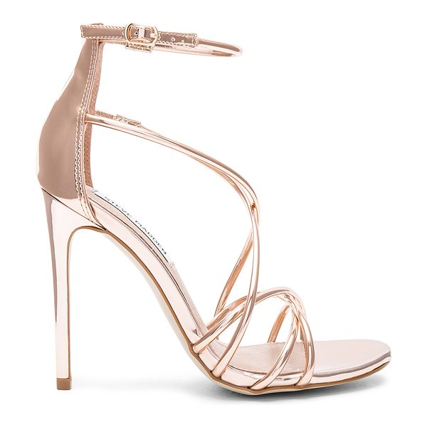 Steve Madden Satire Heel in metallic copper - Man made upper and sole. Ankle strap with buckle...