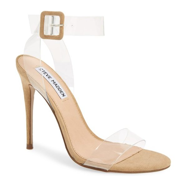Steve Madden seeme sandal in natural - Transparent straps give a barely there look to a...