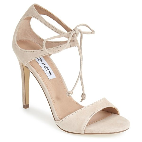 Steve Madden semona suede ankle strap sandal in blush suede - Meet your new go-to sandals: With their clean lines,...