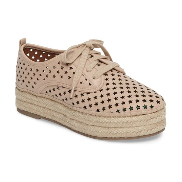 Steve Madden shadow perforated platform oxford in nude - A constellation of perforated stars brings breezy...