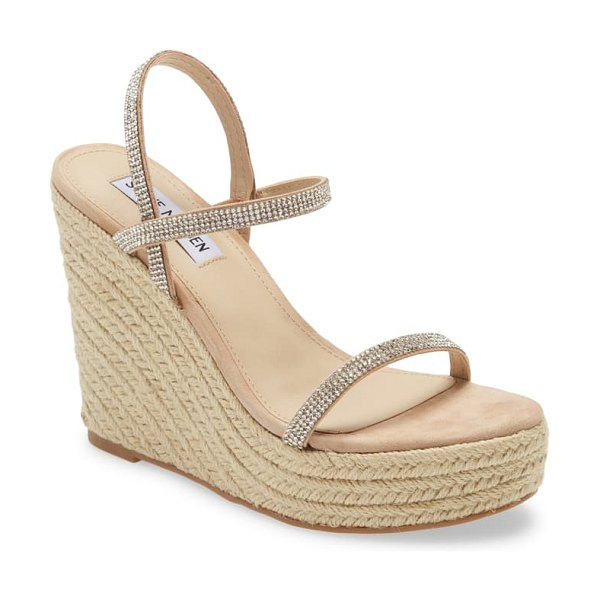 Steve Madden skylight wedge sandal in metallic