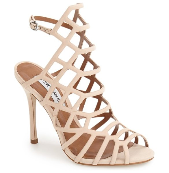 Steve Madden 'slithur' sandal in blush nubuck leather