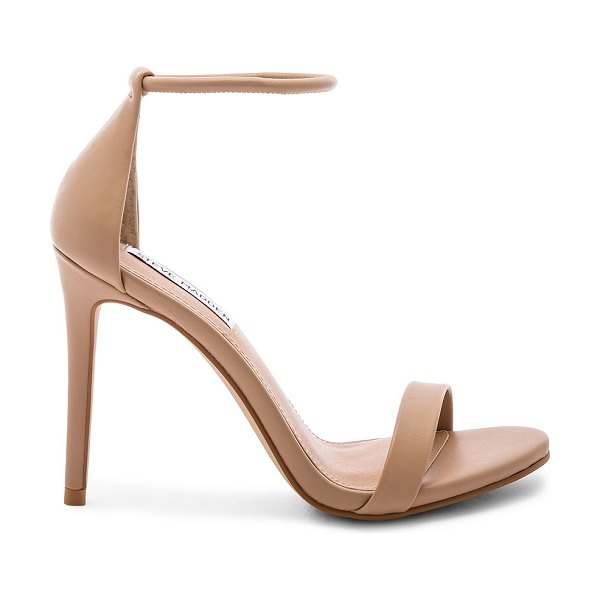 "Steve Madden Soph Heel in beige - ""Man made upper and sole. Elasticized ankle strap. Heel..."
