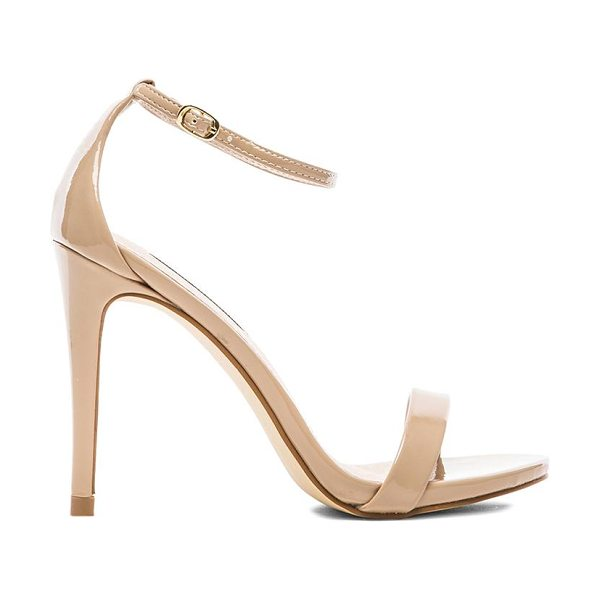 Steve Madden Stecy heel in blush - Patent faux leather upper with rubber sole. Heel...