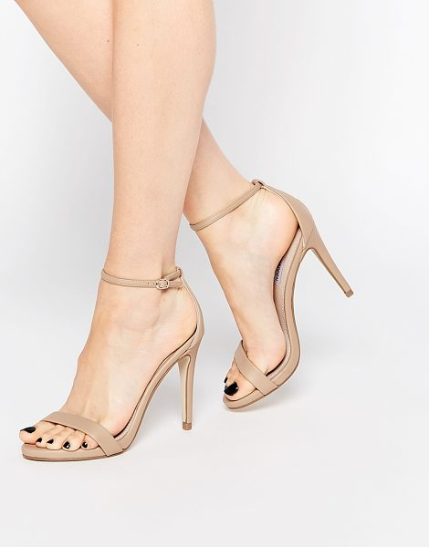"Steve Madden Stecy Barely There Heeled Sandals in beige - """"Heels by Steve Madden, Smooth faux leather upper, Slim..."