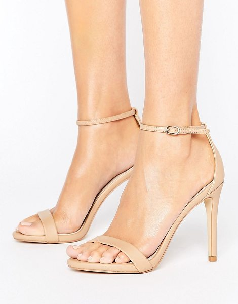 "Steve Madden Stecy Nude Barely There Sandals in beige - """"Sandals by Steve Madden, Faux-leather upper,..."