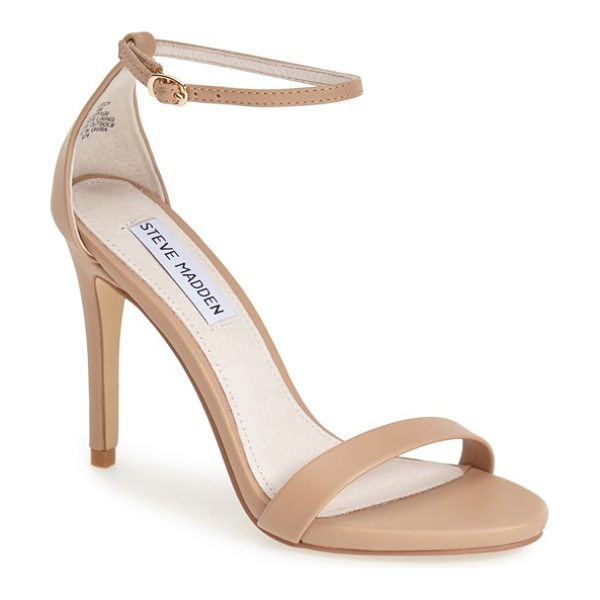 Steve Madden stecy sandal in natural smooth - A slim ankle strap lends a dash of on-trend elegance to...