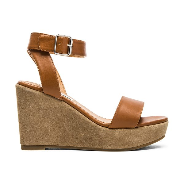 STEVE MADDEN Stryke sandal - Faux leather upper with rubber sole. Wedge measures...