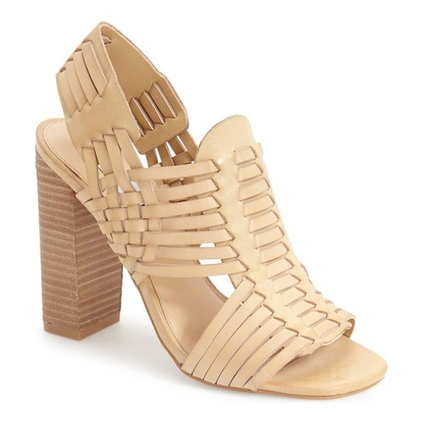 Steve Madden suttun slingback sandal in natural leather - A huarache-inspired sandal in supple leather takes the...