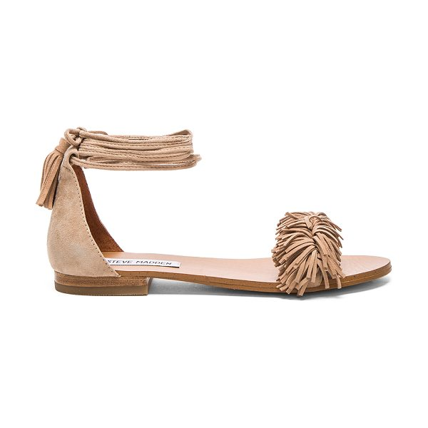 STEVE MADDEN Sweety sandal - Suede upper with man made sole. Wrap ankle with tie...