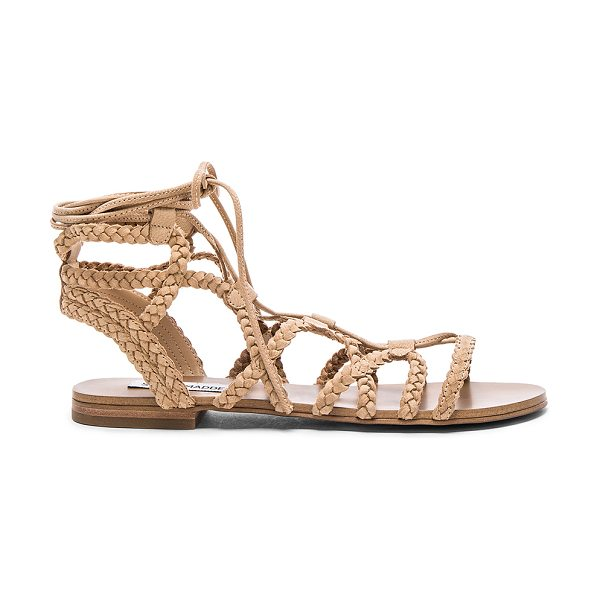 STEVE MADDEN Swyvel sandal - Braided suede upper with man made sole. Lace-up front...