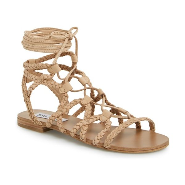 STEVE MADDEN swyvel sandal - Super-slim laces wrap elegantly around your leg atop a...