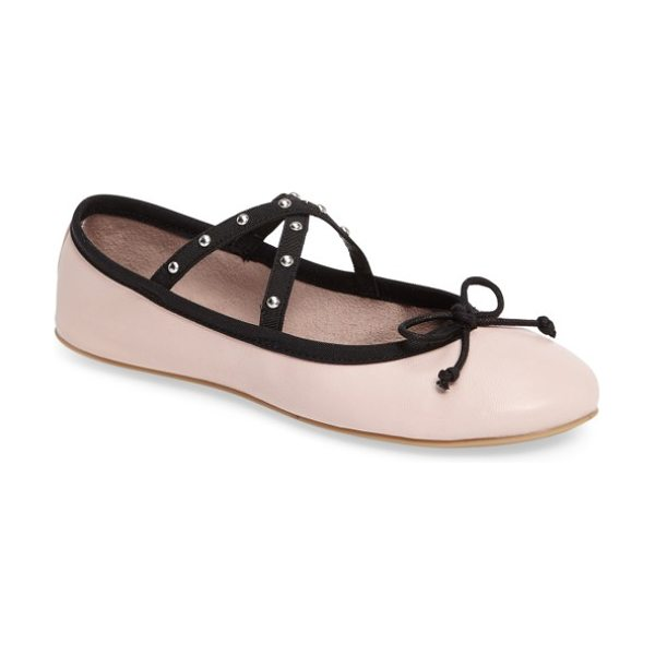 Steve Madden twirls ballet flat in pink leather - A classic ballet flat is totally on pointe for the...