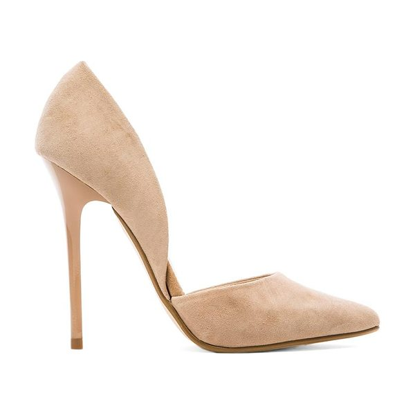 Steve Madden Varcityy heel in blush - Suede upper with man made sole. Heel measures approx...
