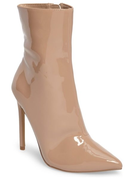 Steve Madden wagner boot in blush patent leather - A perfectly pointed toe enhances the swanky style of a...