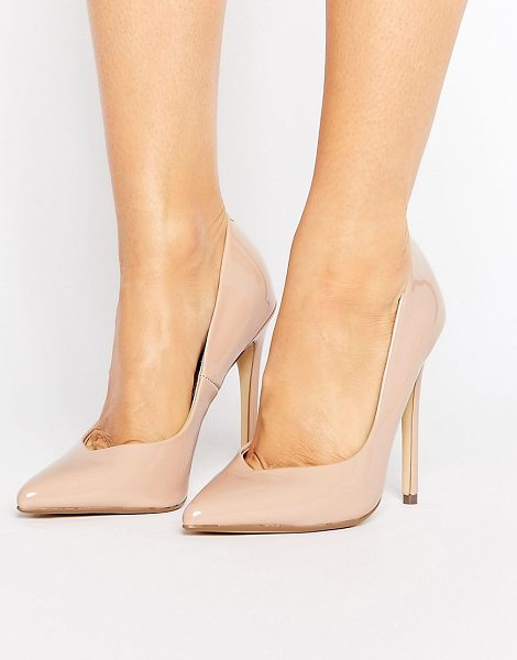 "Steve Madden Wicket Blush Heeled Pumps in blushpatent - """"Heels by Steve Madden, Faux-leather upper, Patent..."