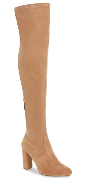 Steve Madden 'emotions' stretch over the knee boot in camel - Sleek, minimal styling defines this over-the-knee boot...