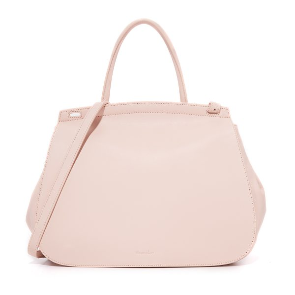 Steven Alan kate satchel in blush - A roomy Steven Alan bag in rich leather. Slim back...