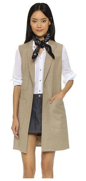 STEVEN ALAN Long blazer vest - A precisely tailored Steven Alan vest with a menswear...