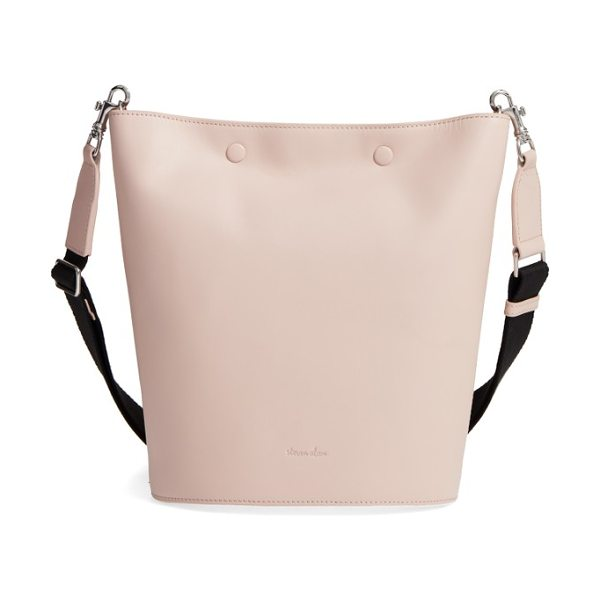 Steven Alan rhys leather bucket bag in blush