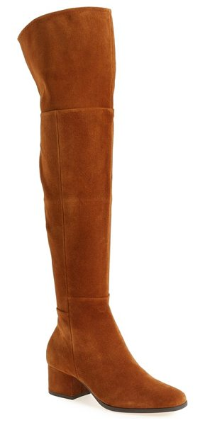 Steven by Steve Madden phaser over the knee boot in cognac suede - Punctuate your look with the eye-catching modern drama...