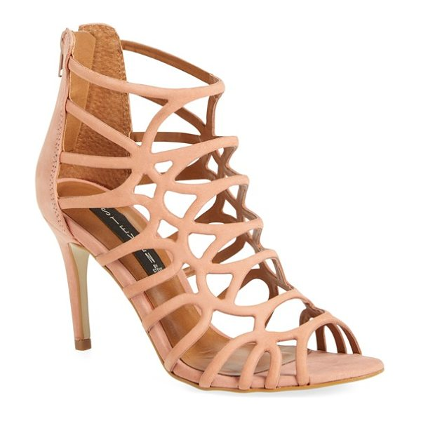 Steven by Steve Madden tana cage sandal in dusty pink leather - Slim, curved straps create the cage-inspired silhouette...