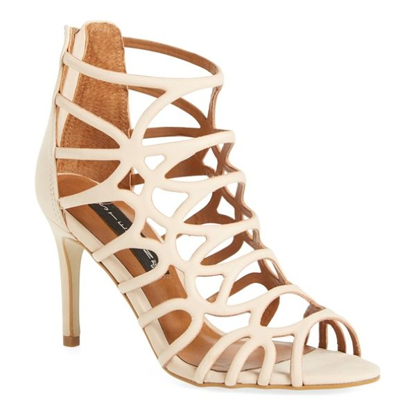 Steven by Steve Madden tana cage sandal in nude leather - Slim, curved straps create the cage-inspired silhouette...