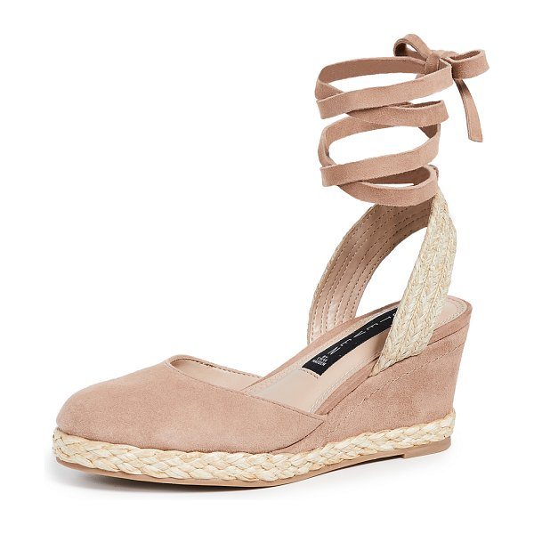 Steven charly wedge espadrilles in nude