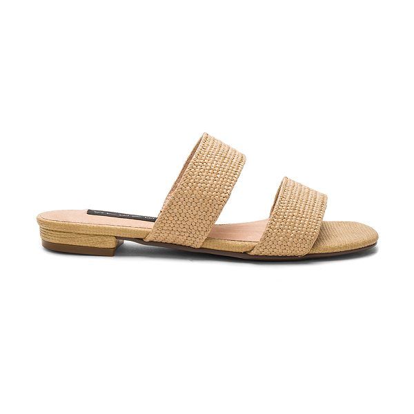 Steven Friendsy Sandal in beige - Woven raffia upper with man made sole. Slip-on styling....