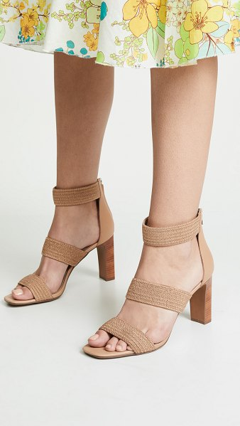 Steven jelly strappy sandals in natural - Fabric: Raffia Leather trim Strappy silhouette Chunky...