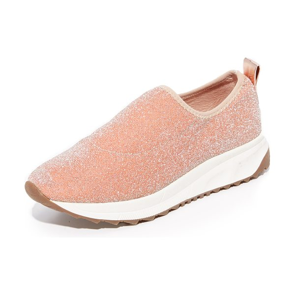 Steven nc slate sneakers in rose gold - Glittering threads add eye-catching style to these mesh...