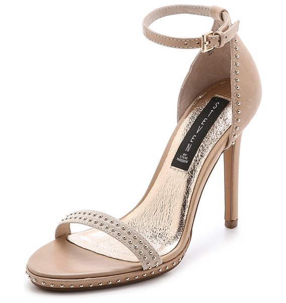 Steven Rogger sandals in bone multi - Studs bring playful shine to these leather Steven...