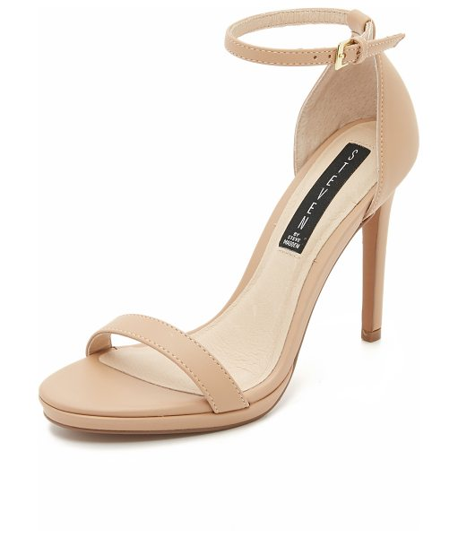 Steven Steven Rykie Sandals in natural - Smooth leather Steven sandals with a slim ankle strap...