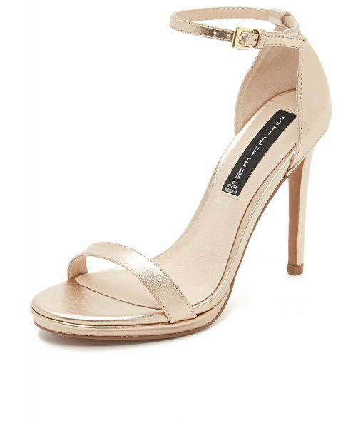 Steven Steven Rykie Sandals in gold - Smooth leather Steven sandals with a slim ankle strap...