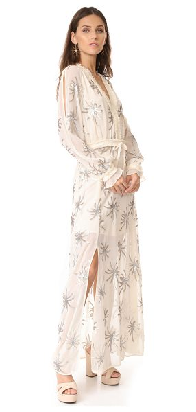 Stevie May dodie maxi dress in sand - Soft fringe and sprays of metallic sequins add unique...