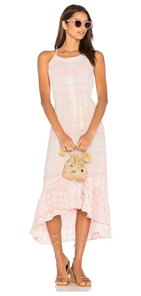 Stillwater Cabo Bound Hi Lo Dress in pink - 100% viscose. Dry clean only. Unlined. Back tie closure....