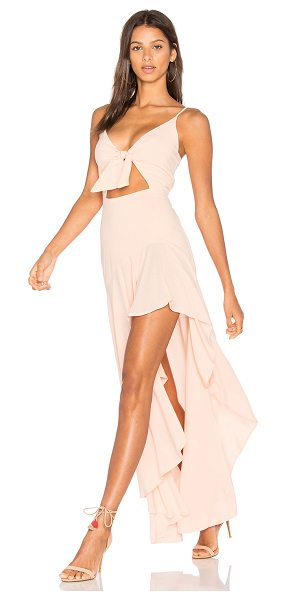 Stillwater Tied Up & Twisted Dress in pink - 100% viscose. Dry clean only. Unlined. Adjustable...