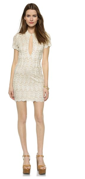 STONE COLD FOX Luke dress - A fitted Stone Cold Fox dress styled in scalloped lace....